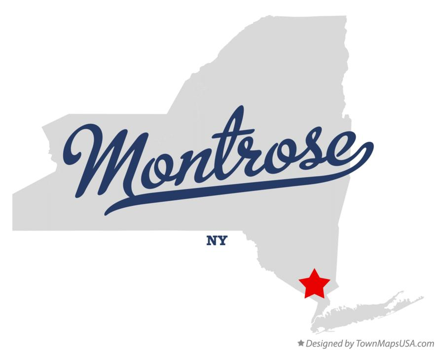 Map of Montrose New York NY