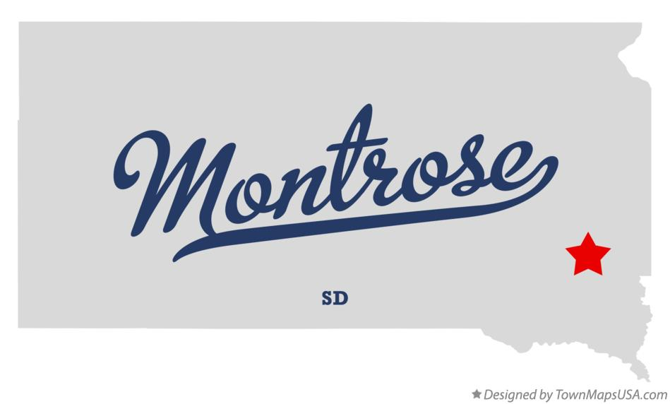 Map of Montrose South Dakota SD