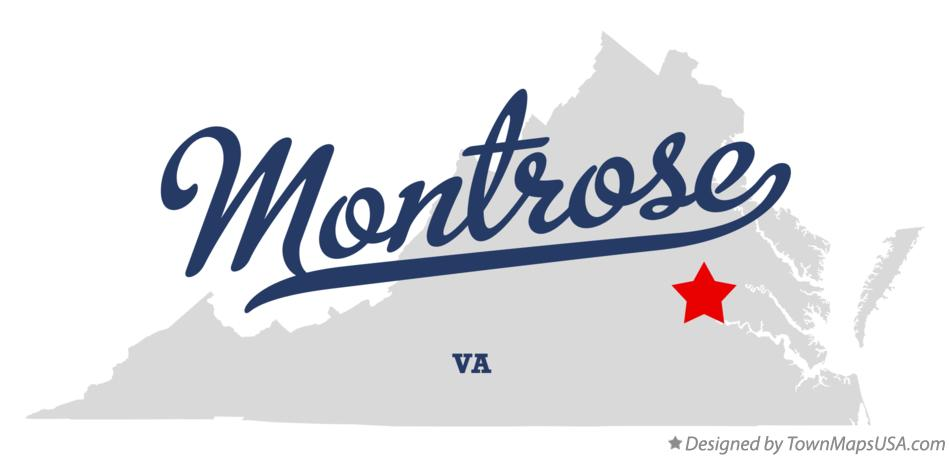 Map of Montrose Virginia VA