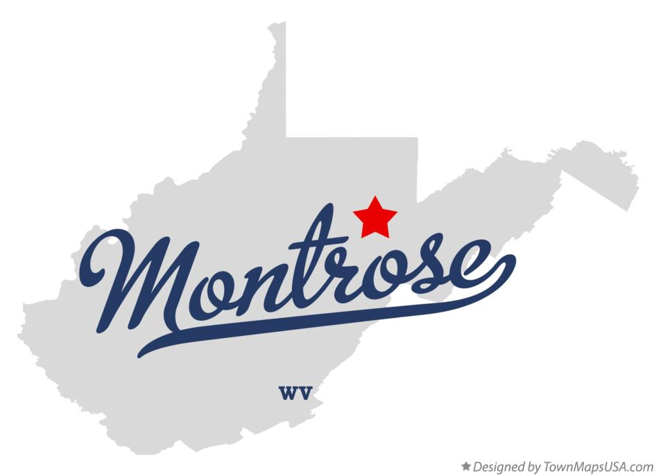 Map of Montrose West Virginia WV