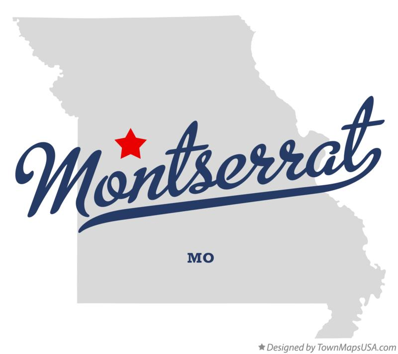 Map of Montserrat Missouri MO