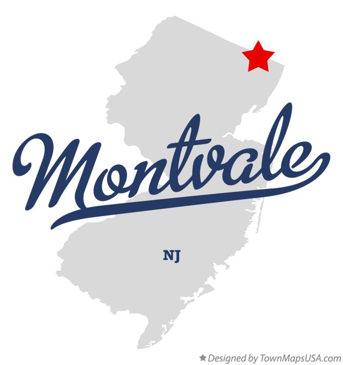 Map of Montvale New Jersey NJ