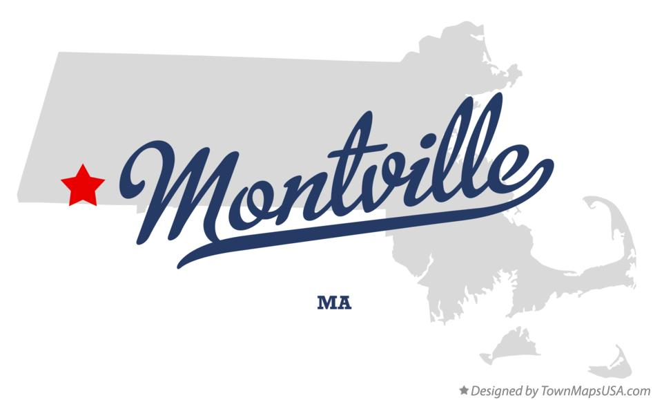 Map of Montville Massachusetts MA
