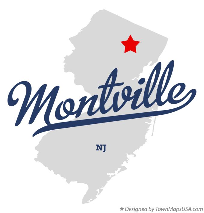 Map of Montville New Jersey NJ