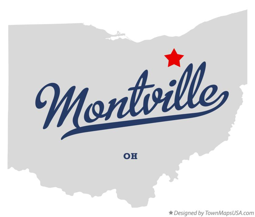 Map of Montville Ohio OH