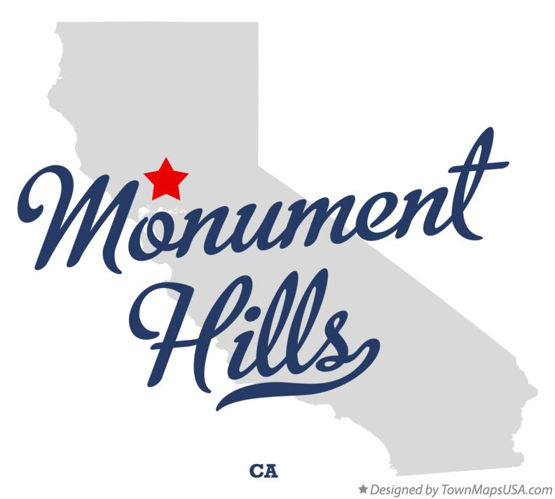 Map of Monument Hills California CA
