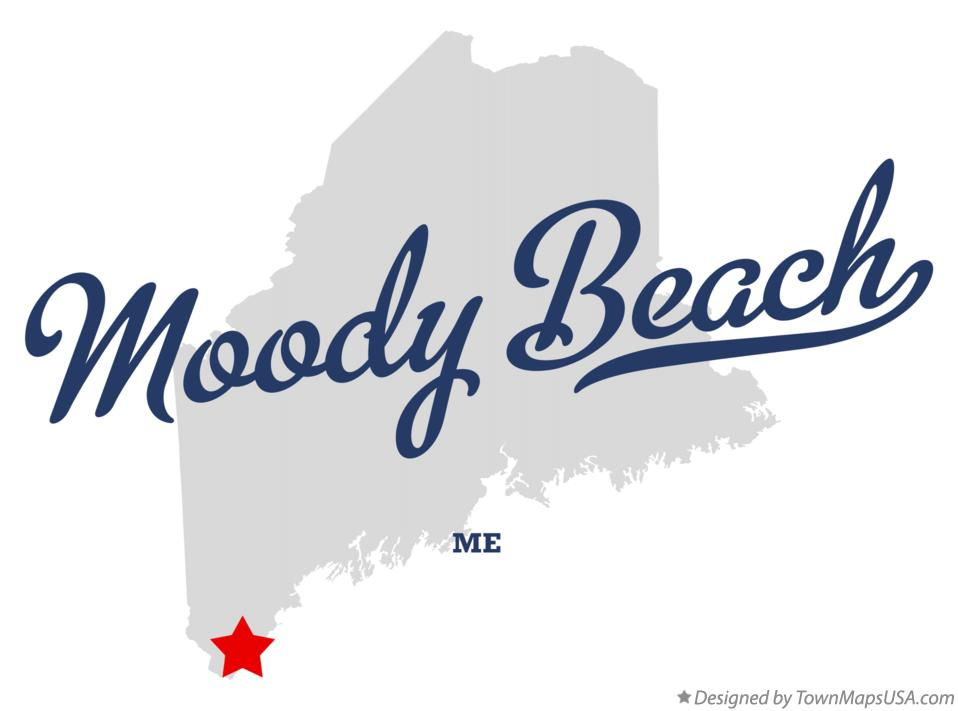 Map of Moody Beach Maine ME