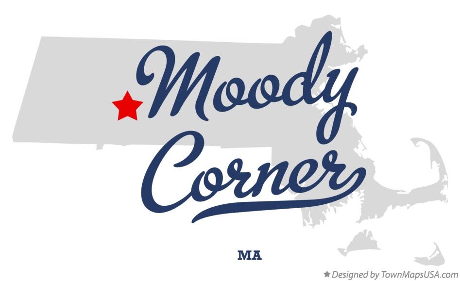 Map of Moody Corner Massachusetts MA