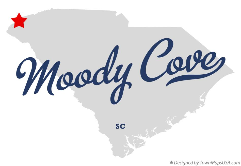Map of Moody Cove South Carolina SC