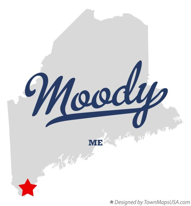Map of Moody Maine ME