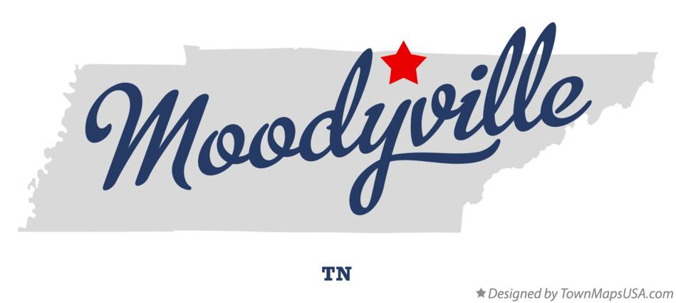 Map of Moodyville Tennessee TN