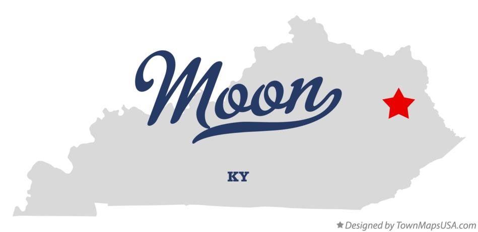 Map of Moon Kentucky KY