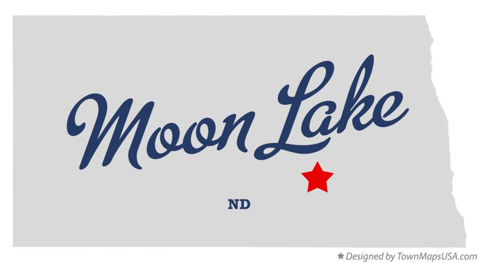 Map of Moon Lake North Dakota ND
