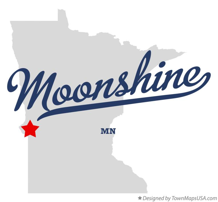 Map of Moonshine Minnesota MN