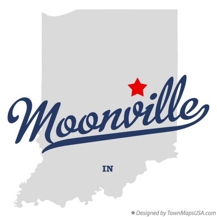 Map of Moonville Indiana IN