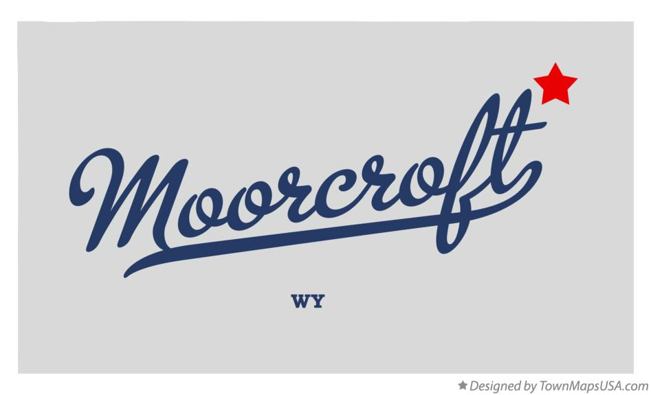 Map of Moorcroft Wyoming WY