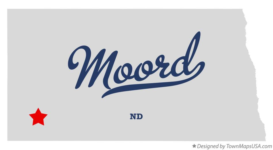 Map of Moord North Dakota ND
