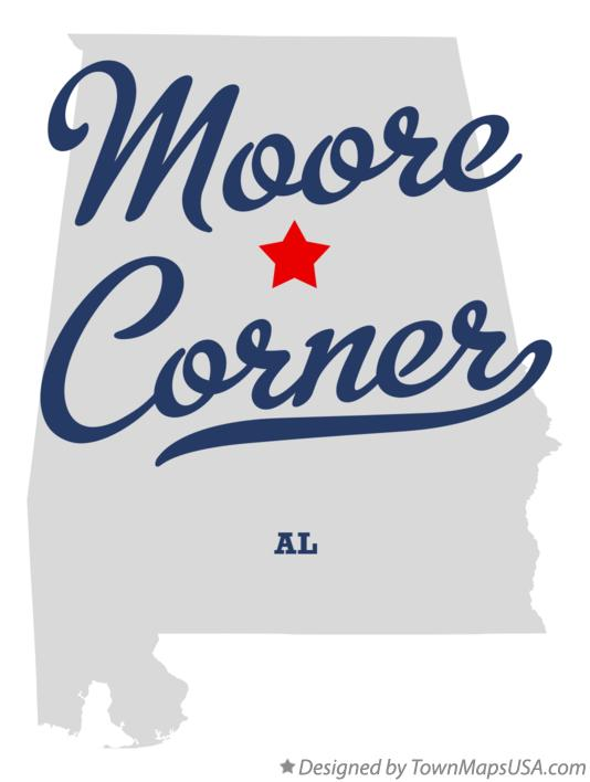 Map of Moore Corner Alabama AL