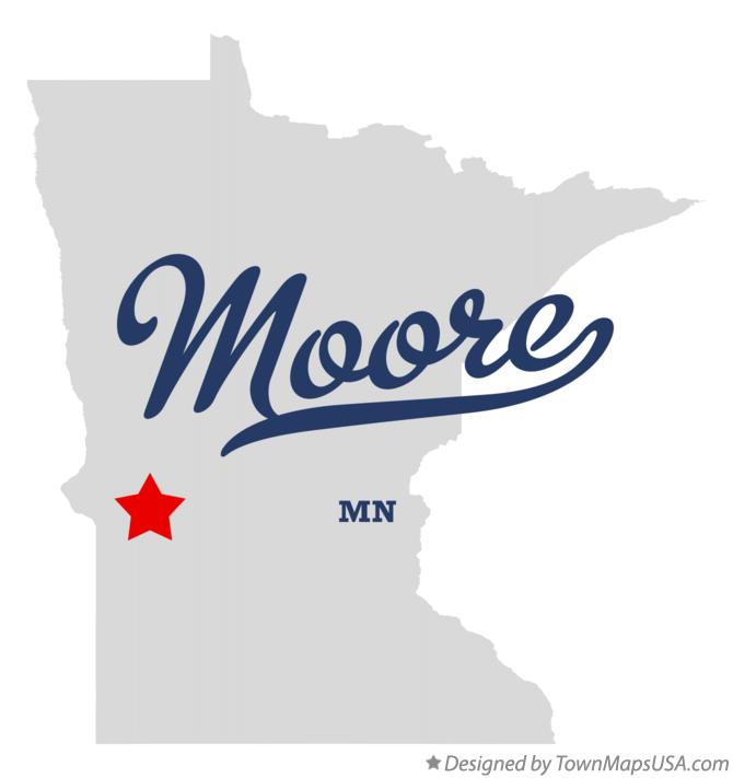 Map of Moore Minnesota MN