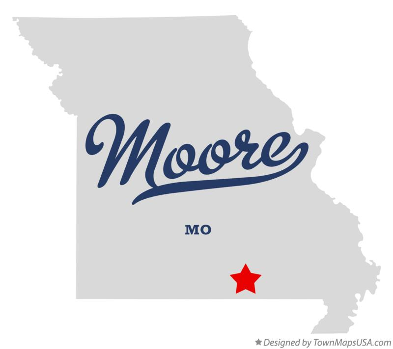 Map of Moore Missouri MO