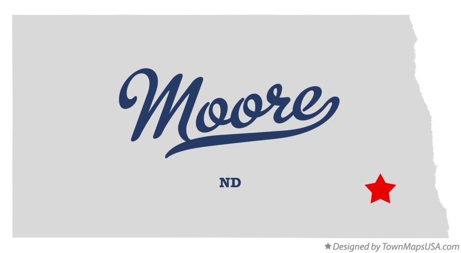 Map of Moore North Dakota ND
