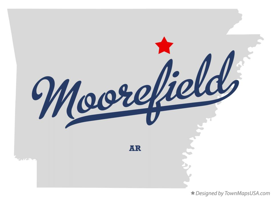 Map of Moorefield Arkansas AR