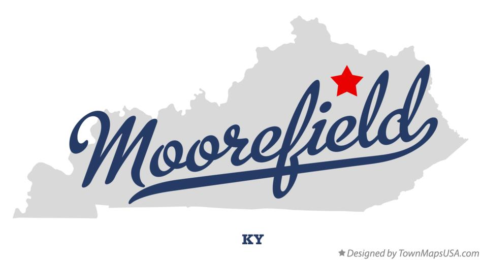 Map of Moorefield Kentucky KY