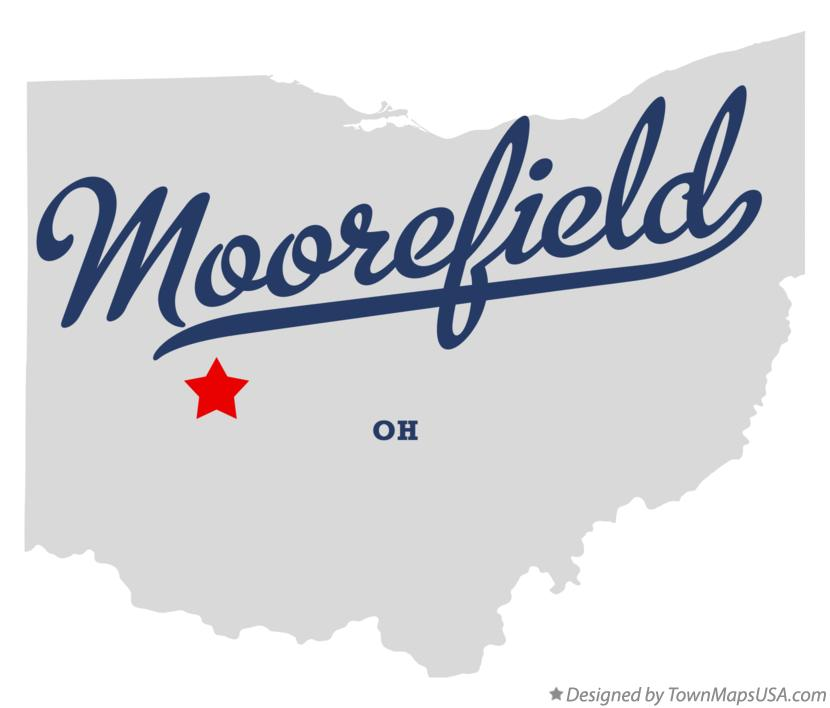 Map of Moorefield Ohio OH
