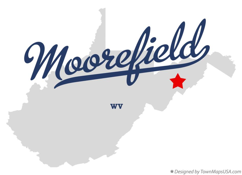 Map of Moorefield West Virginia WV
