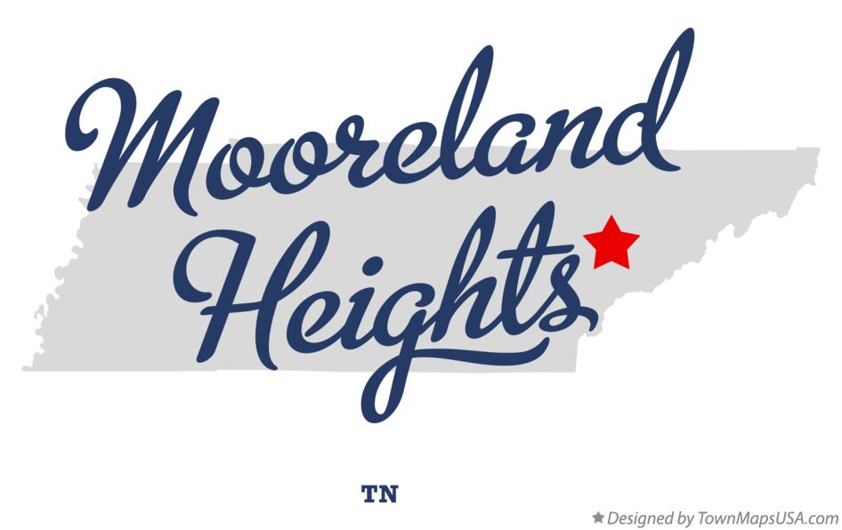 Map of Mooreland Heights Tennessee TN