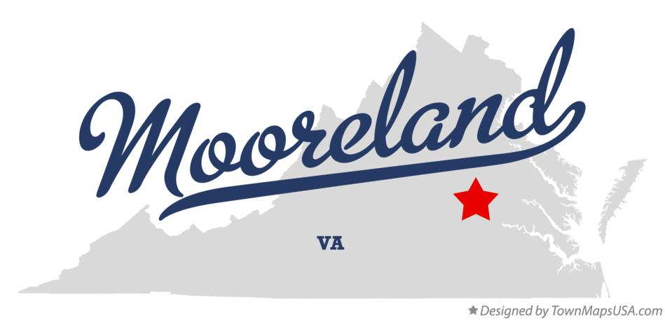 Map of Mooreland Virginia VA