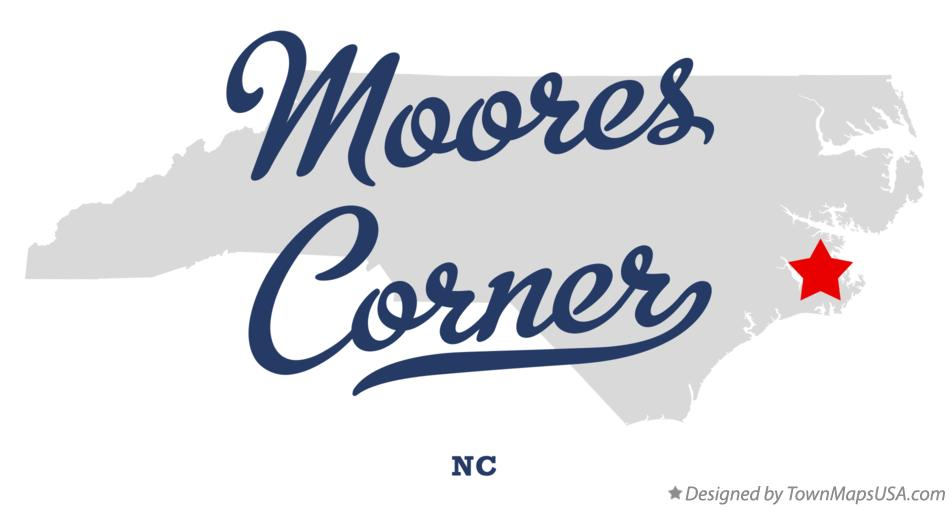 Map of Moores Corner North Carolina NC