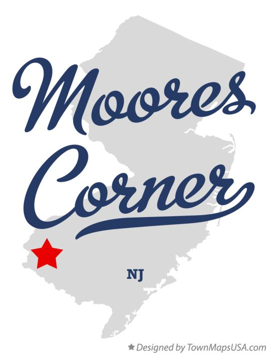 Map of Moores Corner New Jersey NJ