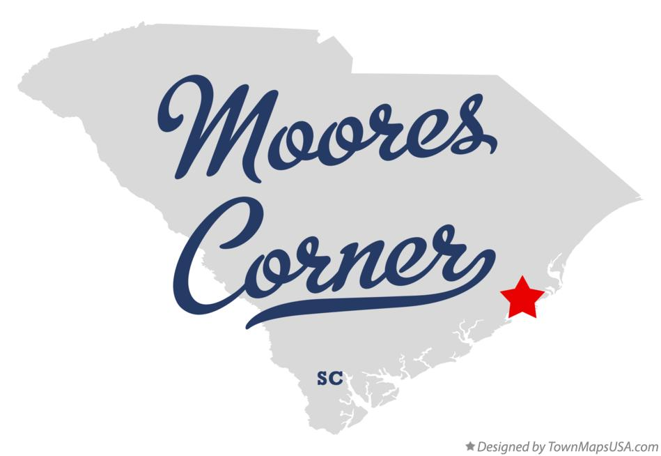 Map of Moores Corner South Carolina SC