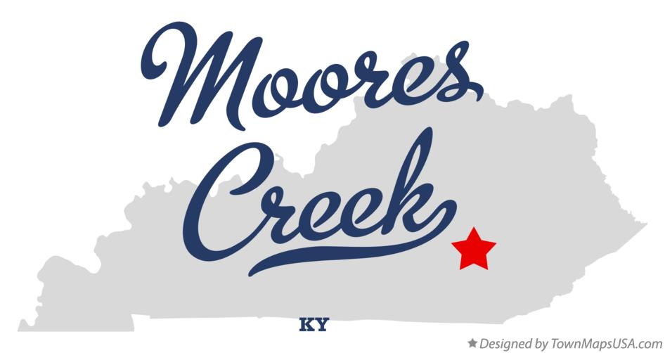 Map of Moores Creek Kentucky KY