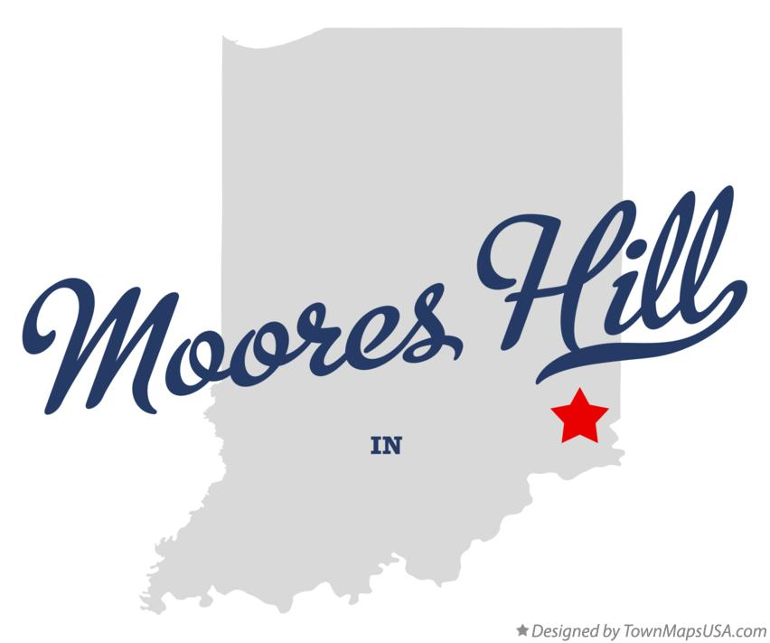 Map of Moores Hill Indiana IN