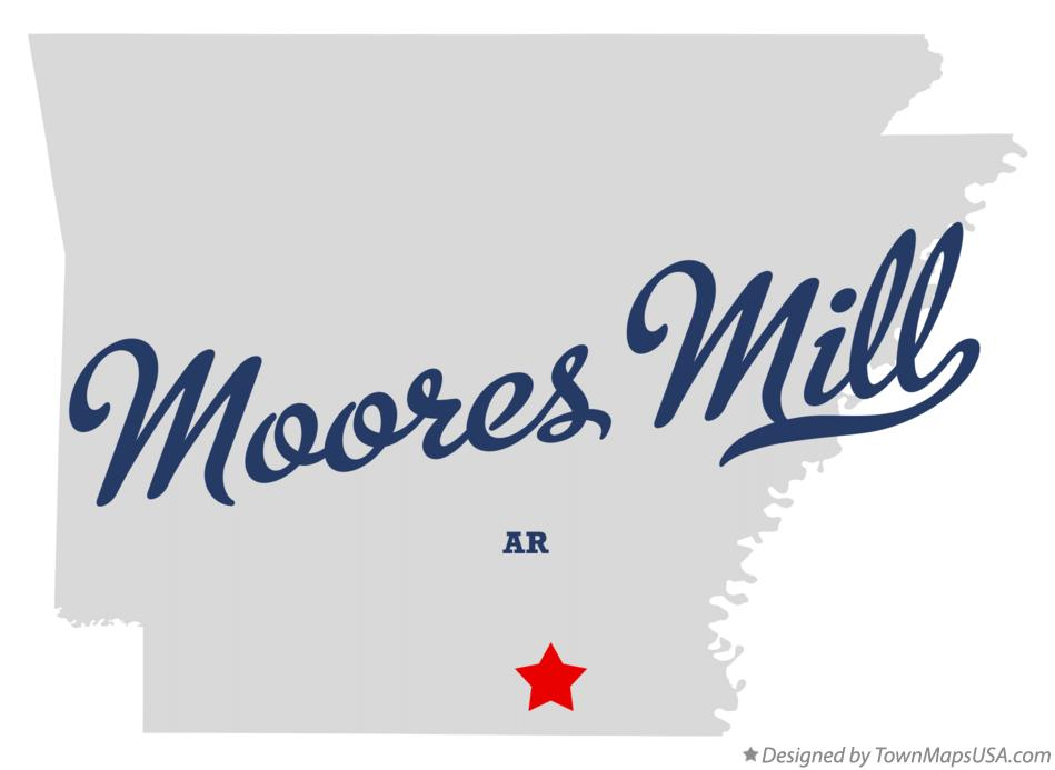 Map of Moores Mill Arkansas AR