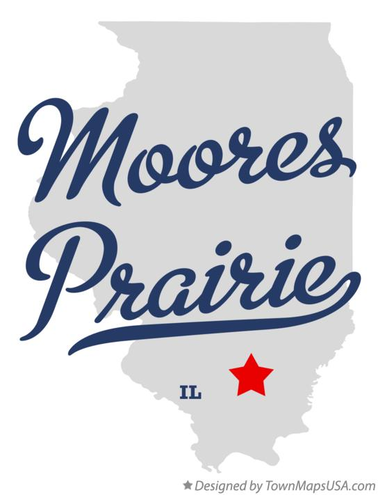 Map of Moores Prairie Illinois IL