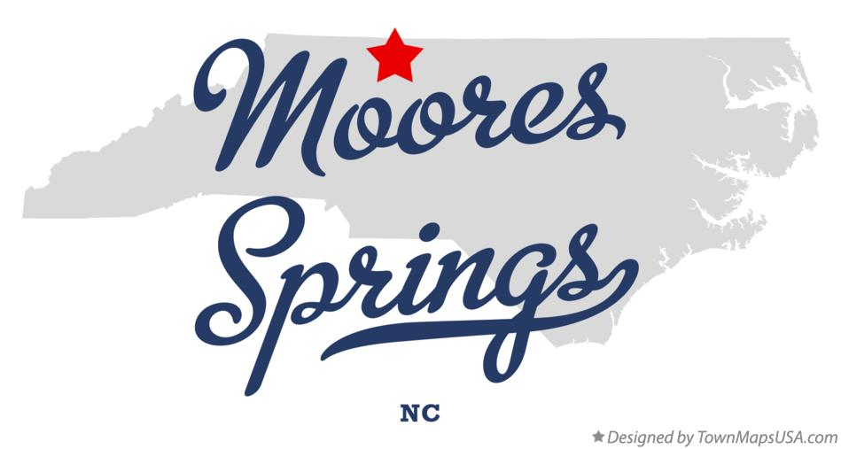 Map of Moores Springs North Carolina NC
