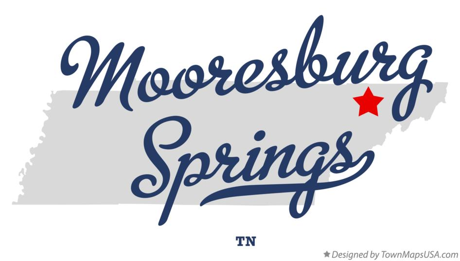 Map of Mooresburg Springs Tennessee TN