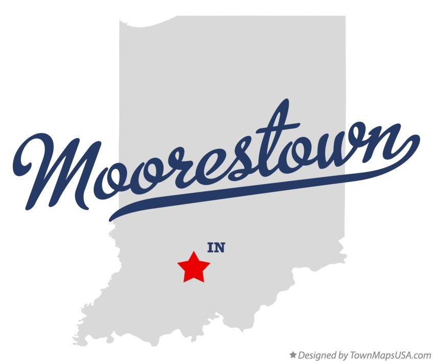 Map of Moorestown Indiana IN