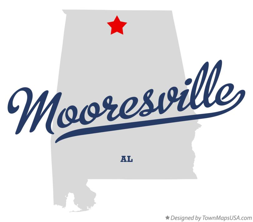 Map of Mooresville Alabama AL