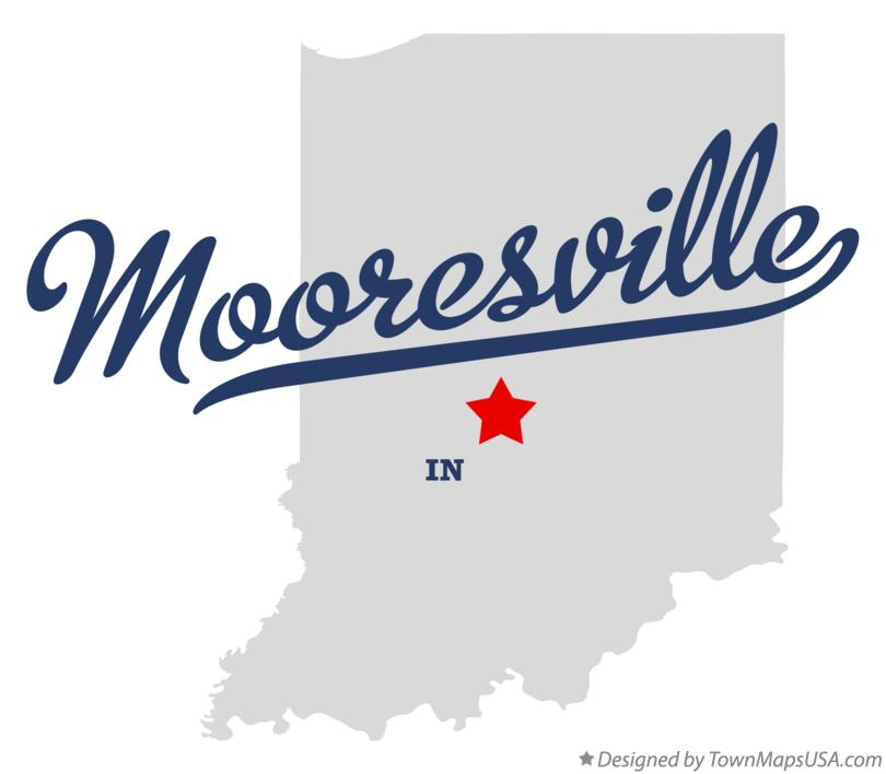 Map of Mooresville Indiana IN