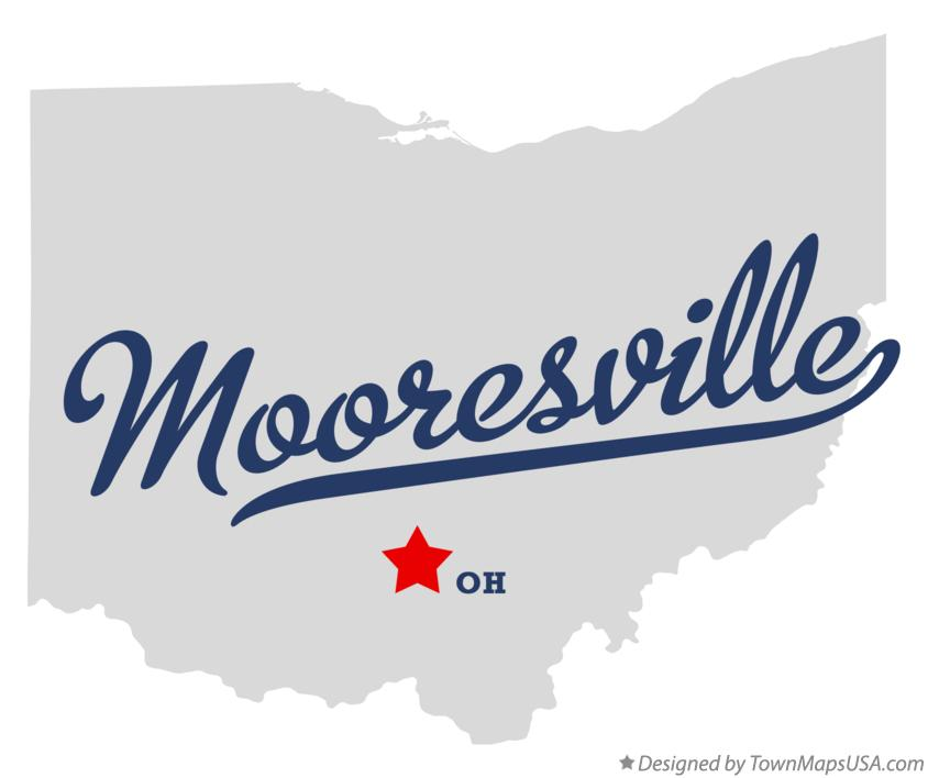 Map of Mooresville Ohio OH
