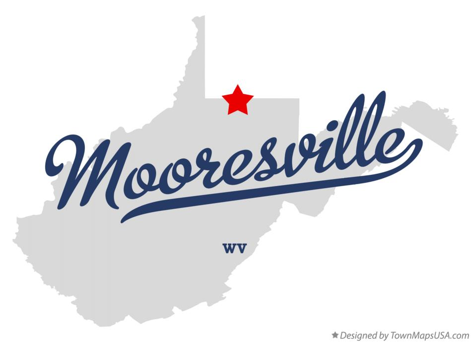 Map of Mooresville West Virginia WV
