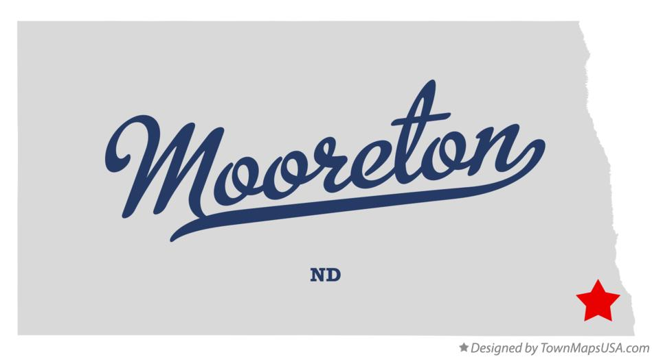 Map of Mooreton North Dakota ND