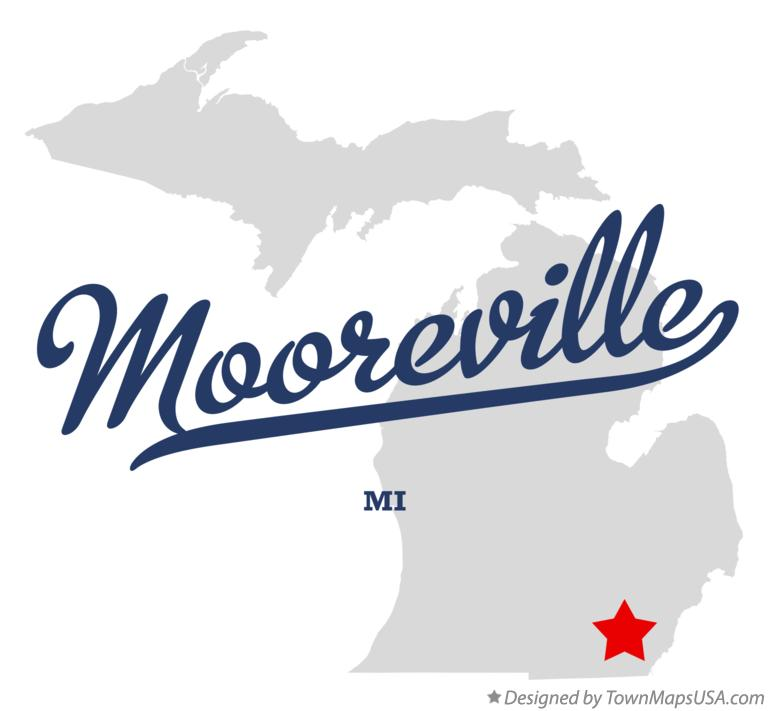 Map of Mooreville Michigan MI