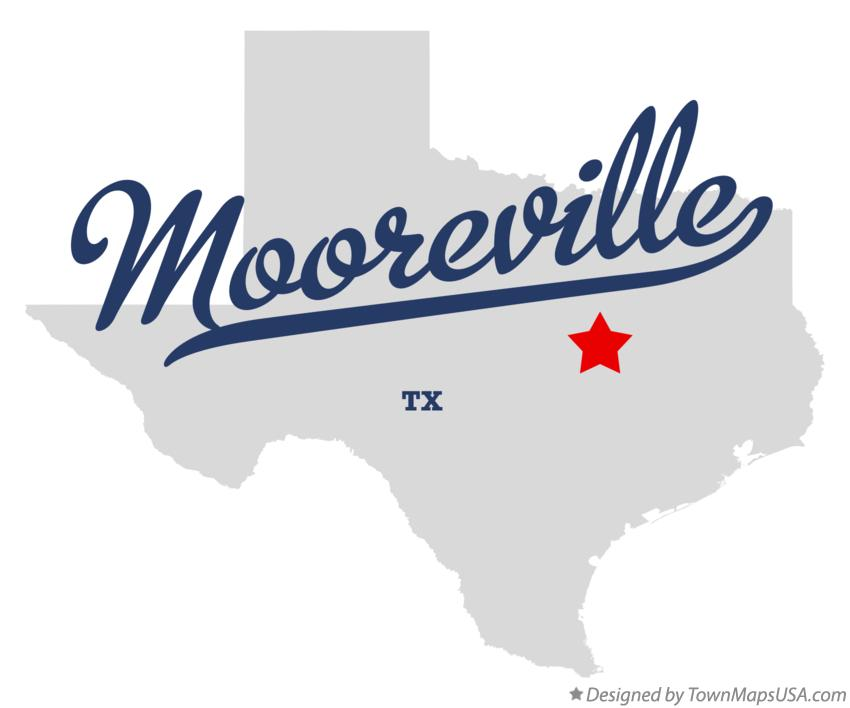 Map of Mooreville Texas TX