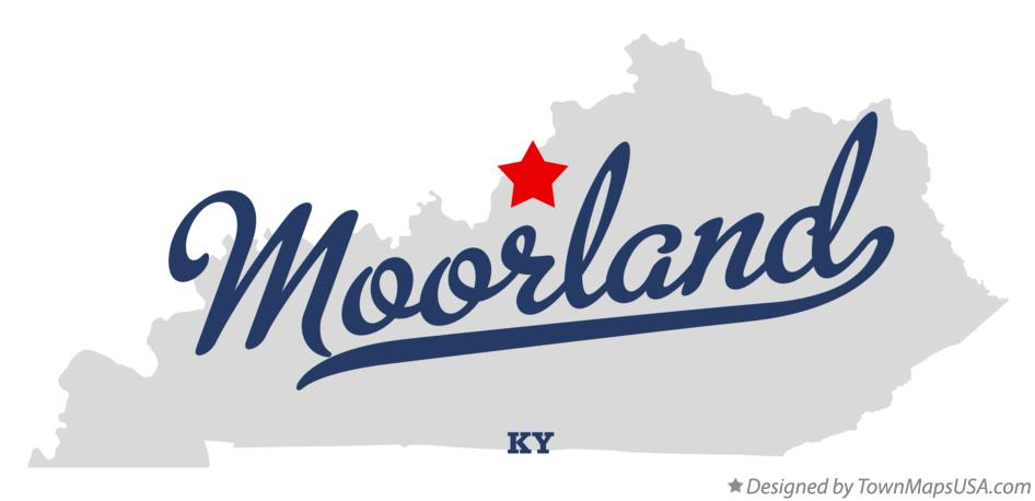 Map of Moorland Kentucky KY