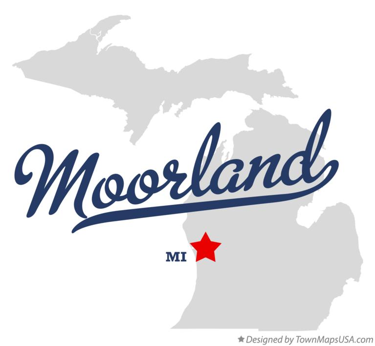 Map of Moorland Michigan MI